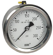 Stainless Pressure Gauge 2.5, 300 PSI, Liquid Filled
