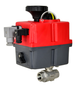 """Electric Actuated Stainless Ball Valve 1/2"""", 24-240V AC/DC"""