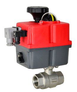 "Electric Actuated Stainless Ball Valve 3/4"", 24-240V AC/DC"