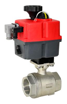 "Electric Actuated Stainless Ball Valve 1-1/2"", 24-240V AC/DC"