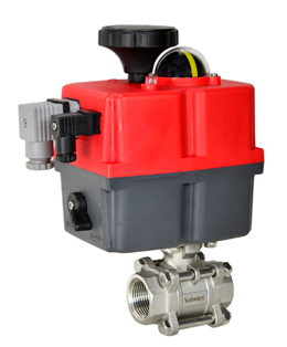 """Electric Actuated 3 pc SS Ball Valve 3/4"""", 24-240V AC/DC"""