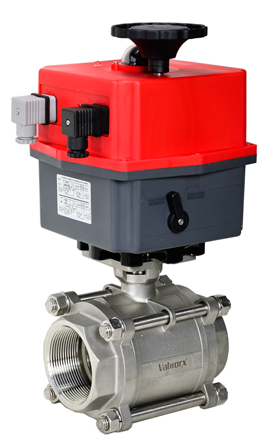 "Electric Actuated 3 pc SS Ball Valve 3"", 24V AC/DC"