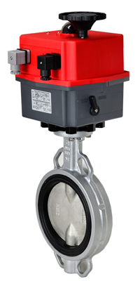 "Electric Actuated Butterfly Valve 6"" Wafer,NBR,115-240V"