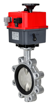 "Electric Actuated Butterfly Valve 6"" Lug,FPM,115-240V"