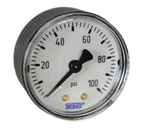 Commercial Pressure Gauge 2, 100 PSI, 1/4  NPT