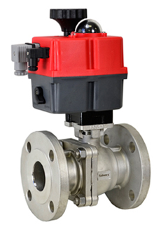 "1-1/2"" Electric 150# Flanged SS Ball Valve, 24-240V AC/DC"