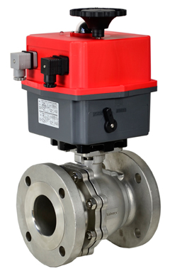 """Electric 150# Flanged SS Ball Valve 3"""", 24V"""