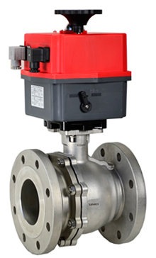 """Electric 150# Flanged SS Ball Valve 4"""", 24V"""
