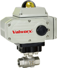 Electric Actuated Stainless Ball Valve 1/4, 110 VAC, EPS Positioner