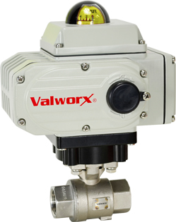 "Electric Actuated Stainless Ball Valve 3/4"", 110 VAC, EPS Positioner"