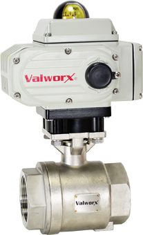 "Electric Actuated Stainless Ball Valve 1-1/2"", 110 VAC, EPS Positioner"