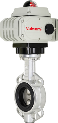 "Electric Actuated Butterfly Valve 2-1/2"" Wafer,NBR,110 VAC,EPS Positioner"