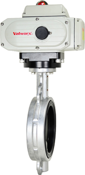"""Electric Actuated Butterfly Valve 6"""" Wafer,NBR,110 VAC,EPS Positioner"""