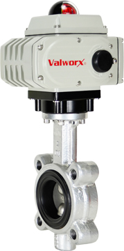 """Electric Actuated Butterfly Valve 2"""" Lug,FPM,110 VAC"""