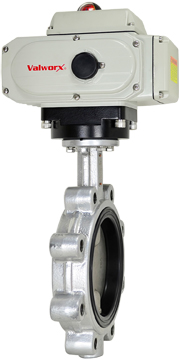 "Electric Actuated Butterfly Valve 6"" Lug,FPM,110 VAC"