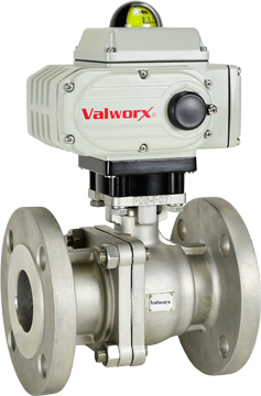 "Electric 150# Flanged SS Ball Valve 2"", 110 VAC, EPS Positioner"