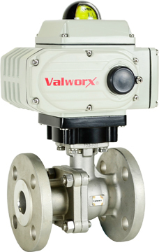 "Electric 150# Flanged SS Ball Valve 1"", 24 VDC"