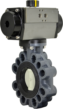 "3"" Air Actuated PVC Butterfly Valve - Double Acting"