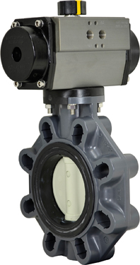 "4"" Air Actuated PVC Butterfly Valve - Double Acting"