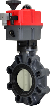 "4"" Electric Actuated PVC Butterfly Valve 24-240V AC/DC"