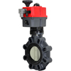 Electric Actuated PVC Butterfly Valves - Multi-Voltage