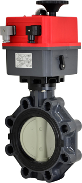 "6"" Electric Actuated PVC Butterfly Valve 24-240V AC/DC"