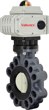 "3"" Electric Actuated PVC Butterfly Valve 24 VDC"