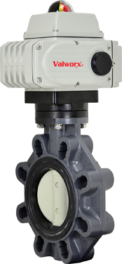 "4"" Electric Actuated PVC Butterfly Valve 110 VAC"