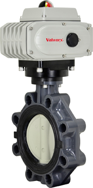 "6"" Electric Actuated PVC Butterfly Valve 24 VDC"