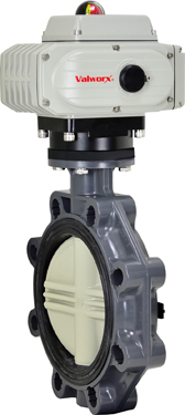 "8"" Electric Actuated PVC Butterfly Valve 110 VAC"