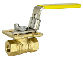 "Lead Free Brass Ball Valve 1/4"" NPT"