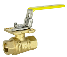 "Lead Free Brass Ball Valve 3/8"" NPT"