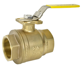 2-1/2 Inch NPT Brass Ball Valve - Direct Mount
