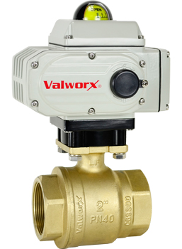 "2"" Electric Actuated Brass Ball Valve 110 VAC"