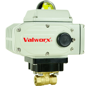 Electric Actuated LF Brass Ball Valve 3/8,  110 VAC, EPS Positioner