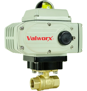 "Electric Actuated LF Brass Ball Valve 1/2"",  110 VAC, EPS Positioner"