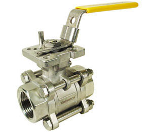 "1"" 3-Piece Stainless Ball Valve - Direct Mount"