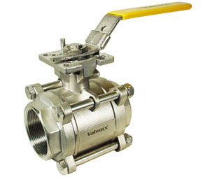 "3-Piece Stainless Ball Valves 2"" NPT"