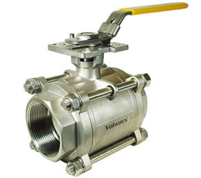 3-Piece Stainless Ball Valves 3 NPT