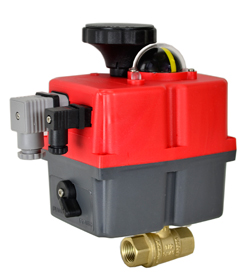 "3/8"" Electric Actuated Brass Ball Valve 24-240V AC/DC"