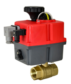 "Electric Actuated Lead Free Brass Ball Valve 1"", 24-240V AC/DC"
