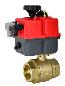 "Electric Actuated Lead Free Brass Ball Valve 1-1/2"", 24-240V AC/DC"