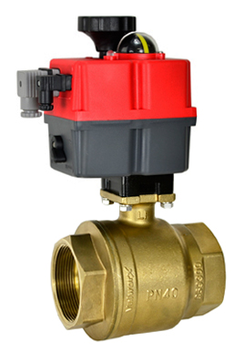 "2-1/2"" Electric Actuated Brass Ball Valve 24-240V AC/DC"