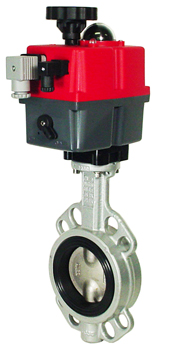 "Electric Actuated Butterfly Valve 2-1/2"" Wafer,NBR,24-240V AC/DC"