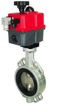 "Electric Actuated Butterfly Valve 4"" Wafer,NBR,24-240V AC/DC"