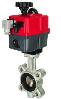 "Electric Actuated Butterfly Valve 2"" Lug,FPM,24-240V AC/DC"