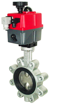 "Electric Actuated Butterfly Valve 4"" Lug,FPM,24-240V AC/DC"