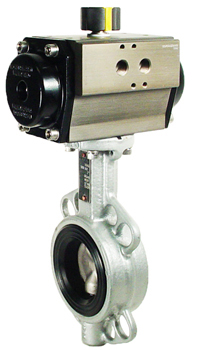 Air Actuated Butterfly Valve 2 Wafer,NBR,Spring Return