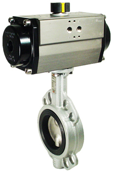 Air Actuated Butterfly Valve 2-1/2 Wafer,EPDM,Spring Return
