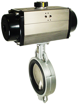 Air Actuated Butterfly Valve 6 Wafer,NBR,Spring Return